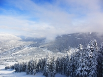 Halfway up Whistler mountain BC Canada