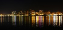 Halifax Nova Scotia Canada at night