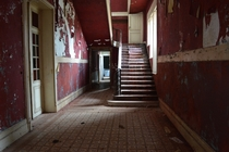Hall in an abandoned mansion Chateau Rouge