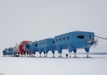 Halley VI centre a dismantlable research station created for the British Antarctic Survey by British architects Hugh Broughton