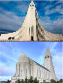 Hallgrimskirkja Cathedral in Reykjavik Iceland at  ft high its the largest church in Iceland designed by architect Gujn Samelsson in  to resemble the trap rocks mountains and glaciers of Icelands landscape Constructed -