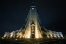 Hallgrmskirkja or church of Hallgrmur - a Lutheran parish church in Reykjavk Iceland  photo by Samit Muangsombut x-post rIsland