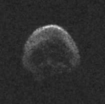 Halloween is ending This is a skull shaped dead comet pictured by NASA which flew past Earth