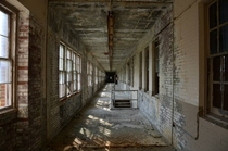 Hallway at abandoned airforce base