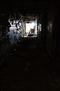Hallway in abandoned asylum Connecticut