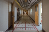 Hallway in the recreation area of an abandoned psychiatric institution OC