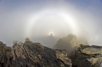 Halo and rainbow - from Chimney Tops TN
