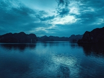 Halong Bay Vietnam at dusk