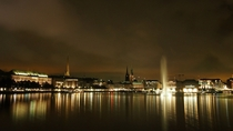 Hamburg Germany at night