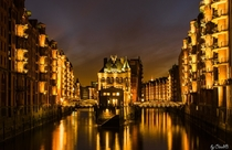 Hamburgs warehouse district Germany  by ClaudiB