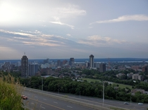 Hamilton Ontario  overlooking downtown from the top of the mountain