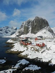 Hamnoy Lofoten Island Norway A Tiny Fishing Village Inside the Arctic Circle