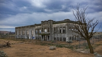 Hanford High School - abandoned since the town was razed to make way for secret nuclear reactors as part of the Manhattan Project