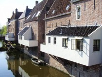 Hanging kitchens in Appingedam the Netherlands