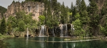 Hanging Lake Above Glenwood Canyon Colorado