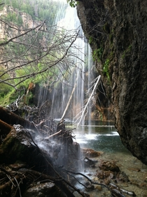 Hanging Lake in Glenwood Springs CO from a different side   x