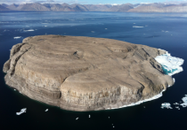 Hans Island claimed by Canada and Denmark