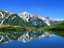 Happo pond in Northern Japanese Alps