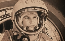 Happy Bleated International Womans Day First Woman in Space - Valentina Tereshkova on board the Vostok