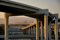 Harbor Freeway Interchange Los Angeles