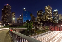 Harbor Freeway Overpass in Los Angeles CA
