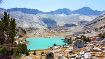 hard to believe the color Conness lakes in Inyo National Forest  x taken on S edge