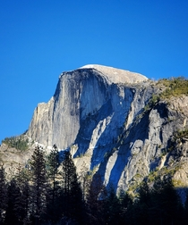 Hard to capture the enormity of Half Dome but I tried Yosemite National Park CA USA  x
