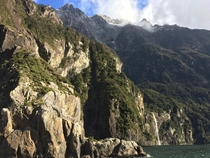 Hard to judge how massive these cliffs really were from a picture of Milford Sound New Zealand