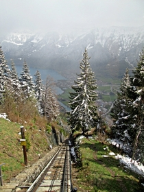 Harder Kulm funicular railway Interlaken Switzerland