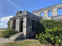 Harrismith Plantation House an abandoned coral stone building on Barbados east coast