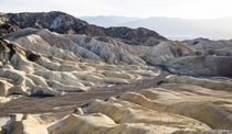 Harsh but beautiful badlands in Death Valley CA