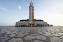 Hassan II Mosque    in Casablanca Morocco is the largest mosque in Africa and has the worlds tallest minaret