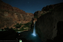 Havasu Falls AZ after nightfall OC