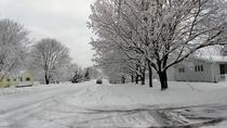 Havent had ANY snow this year yet so heres my street last November in New Brunswick Canada
