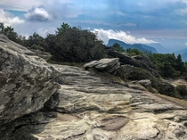 Hawksbill trail in The Linville Gorge Wilderness