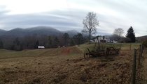 Haywood County NC farm in January