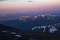 Haze from a fire made a very pink sunrise atop Torreys Peak yesterday