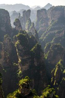 Hazy morning in Zhangjiajie China