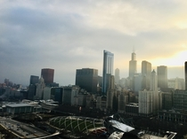Hazy Spring Evening in Chicago