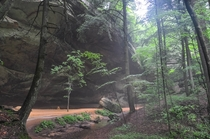 Hazy Summer in the Hocking Hills of Ohio
