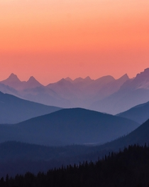 Hazy Sunset last night May   Icefields Parkway Jasper National Park Alberta x  jeremiahwilderness