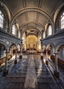 HDR pano of an abandoned church California