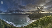 HDR Panorama from Teddys Lookout Great Ocean Road Australia