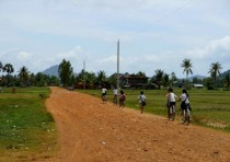Heading home from school - Kep Cambodia