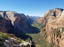 Heard you guys like great views Zion National Park from Angels Landing trail UT   X