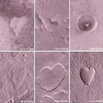 Heart-shaped mesas amp depressions on the Martian surface