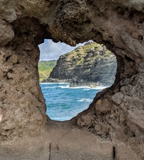 Heart-Shaped Views Nakalele Point Maui Hawaii USA