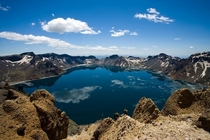 Heaven Lake at the border of North Korea and China Photo by Jilin Changbaishan