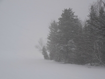 Heavy snowfall in New Brunswick Canada