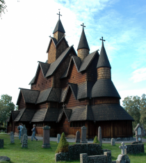 Heddal Stave Church in Norway constructed in the early th Century
